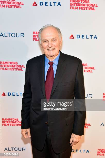 Dick Cavett Award recipient Alan Alda attends the Red Carpet for The Kindergarten Teacher at Guild Hall on October 4 2018 in East Hampton New York