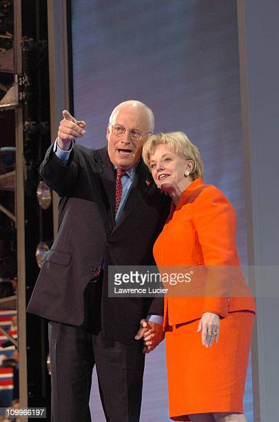 Dick Cheney and Lynne Cheney during 2004 Republican National Convention Day 3 Inside at Madison Square Garden in New York City New York United States