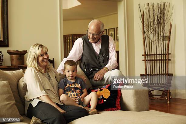Dick Cheney at home in Jackson Wyoming with his daughter Liz