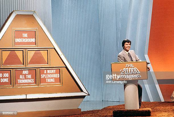 PYRAMID Dick Clark 1/20/76 On '$20000 Pyramid' a contestant and a celebrity guest selected one category of six on a pyramidshaped board and playing...
