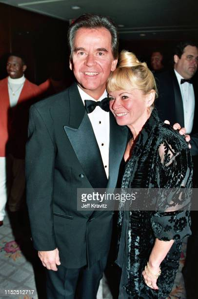 Dick Clark and Kari Clark at The 1993 Rock And Roll Hall of Fame at The Century Plaza on January 12th 1993 in Los Angeles CA