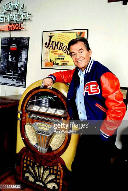 Dick Clark NO TABLOIDS during Dick Clark In His Office - April 6, 1988 at Dick Clark Productions in Burbank, California, United States.