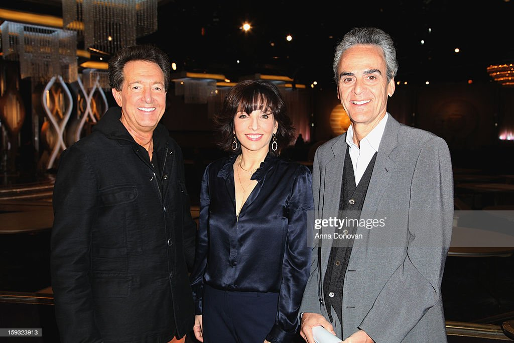 Dick Clark Productions (DCP) Executive Vice President Barry Adelman, DCP President Orly Adelson, and DCP CEO Allen Shapiro attend the 70th Annual Golden Globe Awards preview day at The Beverly Hilton Hotel on January 11, 2013 in Beverly Hills, California.