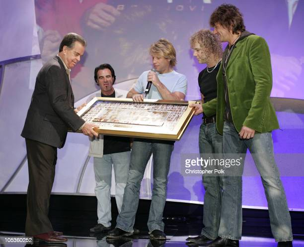 Dick Clark Tico Torres Jon Bon Jovi David Bryan and Richie Sambora of Bon Jovi