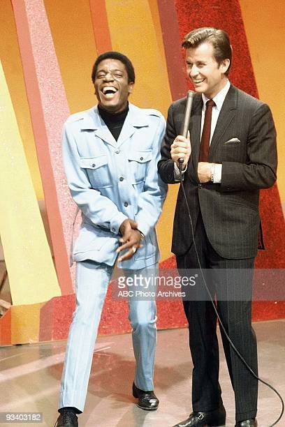BANDSTAND 9/13/1969 Dick Clark with a guest on American Bandstand