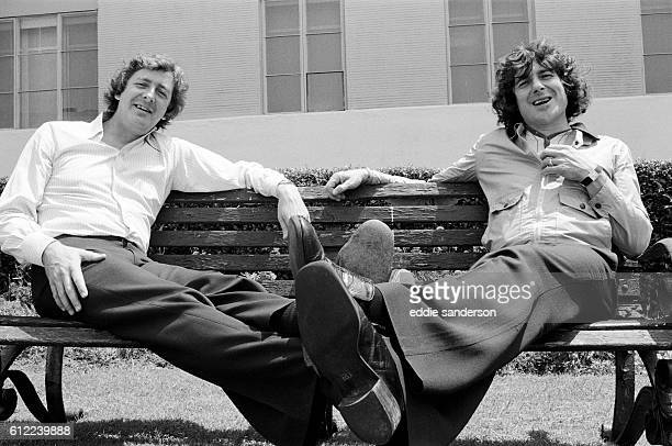 Dick Clement and Ian La Frenais in Hollywood, photographed around some of the famous streets in the backlot of 20th Century Fox. . They are an...