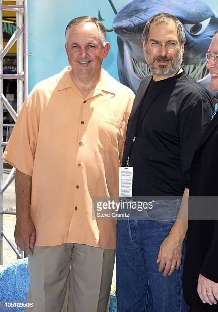 Dick Cook Steve Jobs during 'Finding Nemo' Los Angeles Premiere at El Capitan Theater in Los Angeles California United States