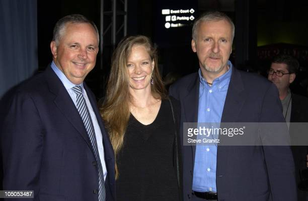 Dick Cook Suzy Amis James Cameron during Ghosts Of The Abyss Premiere at Universal City Walk IMAX in Universal City California United States