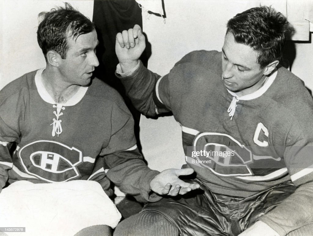 1965 Stanley Cup Finals - Game 2:  Chicago Blackhawks v Montreal Canadiens : News Photo