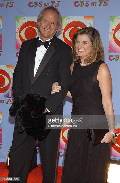 Dick Ebersol and wife Susan Saint James during CBS at 75 at Hammerstein Ballroom in New York City New York United States