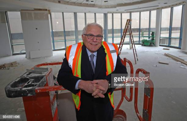 Dick Friedman developer at underconstruction One Dalton in Boston poses for a portrait in the building's ballroom on March 9 2018 Under construction...
