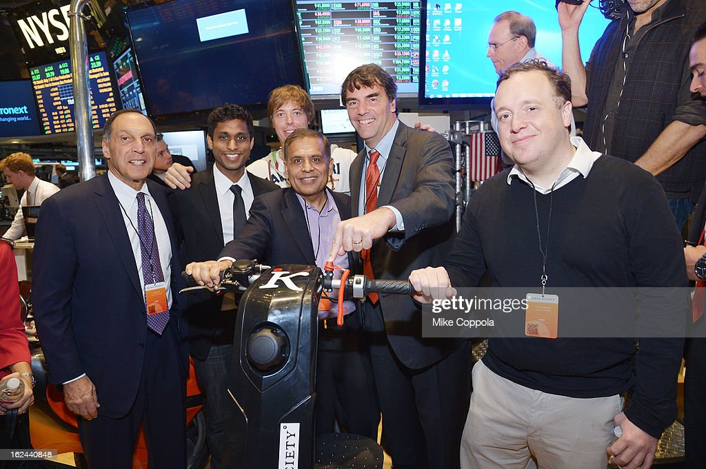 Dick Fuld, Ankur Jain, Benjamin Gulak, guest, Tim Draper, and Court Coursey attend the Kairos Society Global Summit at New York Stock Exchange on February 23, 2013 in New York City.