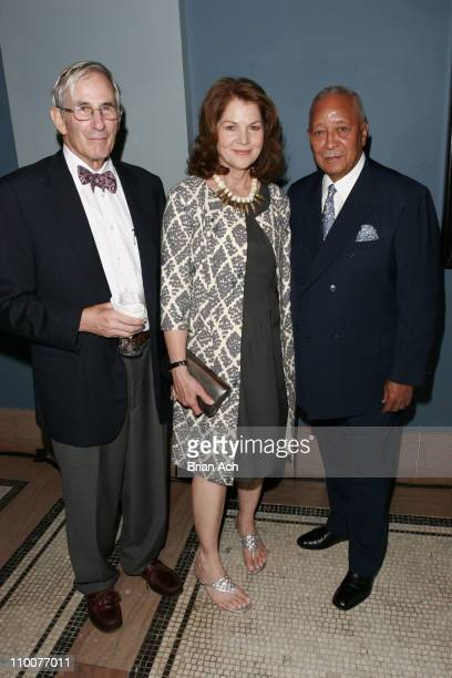 Dick Gilder Lois Chiles and Former NYC Mayor David Dinkins