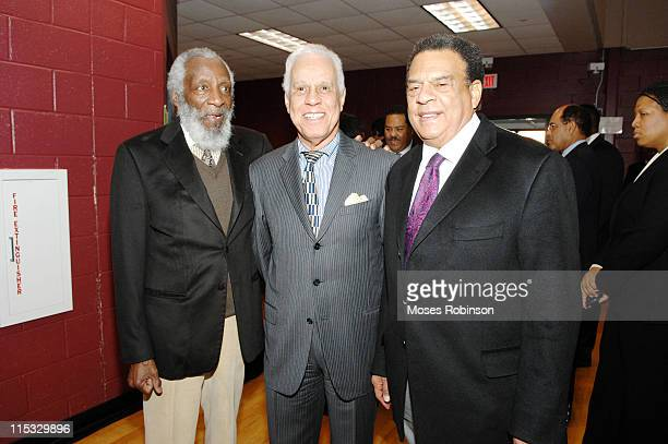 Dick Gregory Former Virginia Governor Lawerance Douglas Wilder and Former Atlanta Mayor Andrew Young