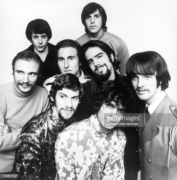 Dick Halligan Steve Katz Jerry Weiss Bobby Colomby Randy Brecker Jim Fielder Al Kooper and Fred Lipsius of the rock and roll group 'Blood Sweat...