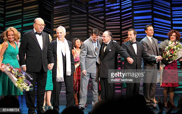 Dick Latessa Kristin Chenoweth Neil Simon Burt Bacharach Sean Hayes Hal David Rob Ashford Tony Goldwyn Fatie Finneran taking a bow on the Opening...