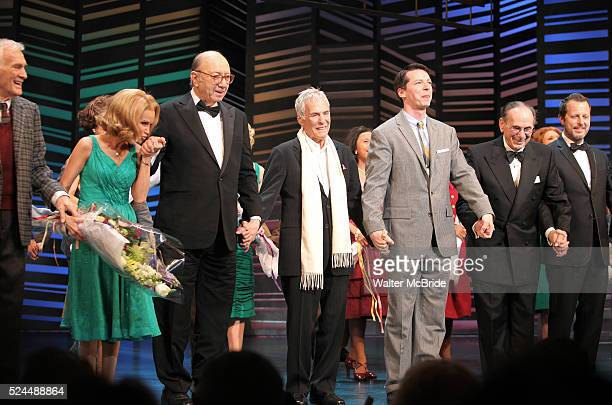 Dick Latessa Kristin Chenoweth Neil Simon Burt Bacharach Sean Hayes Hal David Rob Ashford taking a bow on the Opening Night Broadway performance...