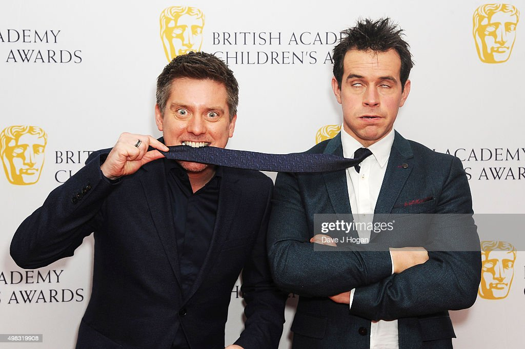 Dick McCourt (L) and Dom Wood attend the British Academy Children's Awards at The Roundhouse on November 22, 2015 in London, England.