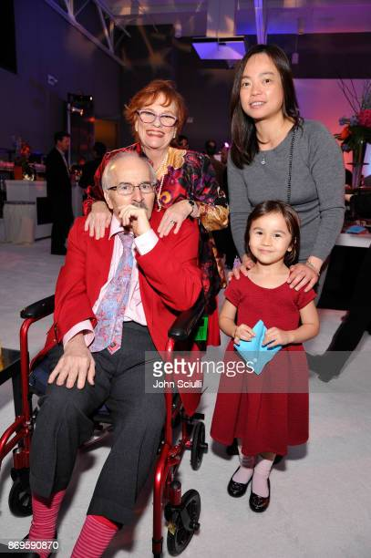 Dick McCoy Mary McCoy Sally Tang and Morgan Tang at the 6th Annual Reel Stories Real Lives event benefiting MPTF at Milk Studios on November 2 2017...