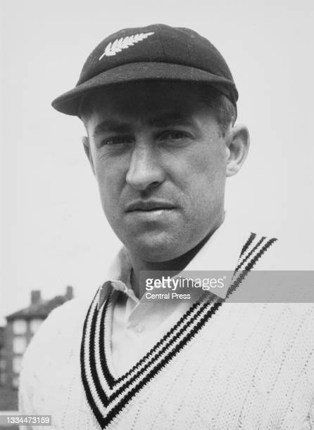 Dick Motz from New Zealand and right-arm fast bowler for the touring New Zealand cricket team circa April 1965.