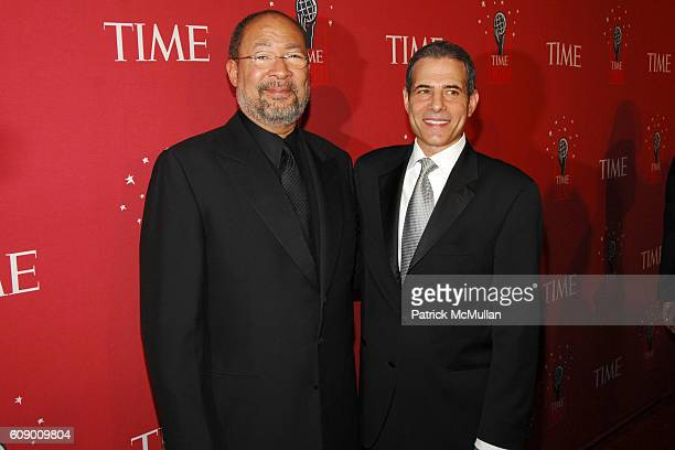 Dick Parsons and Rick Stengel attend TIME Magazine's 100 Most Influential People 2007 at Jazz at Lincoln Center on May 8 2007 in New York City