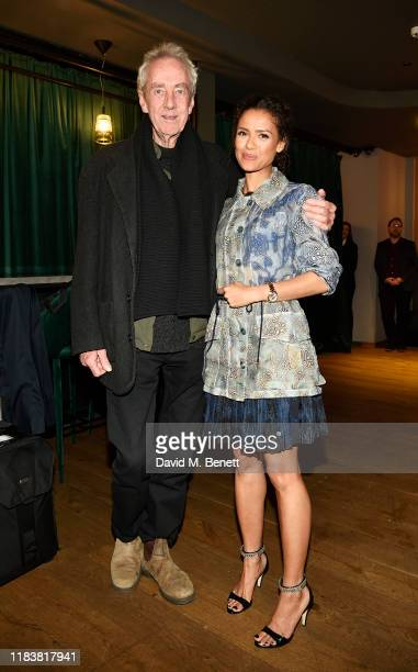 Dick Pope and Gugu MbathaRaw attend the Motherless Brooklyn BAFTA screening reception at Vue Leicester Square on November 21 2019 in London England