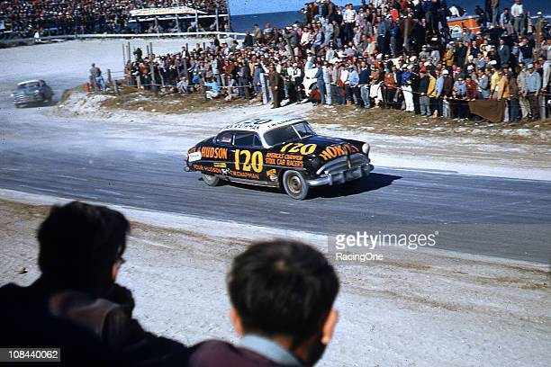 Dick Rathman starts to head down the paved Highway A1A portion of the Daytona Beach-Road Course during the NASCAR Cup race. Driving the ÒAmericaÕs...