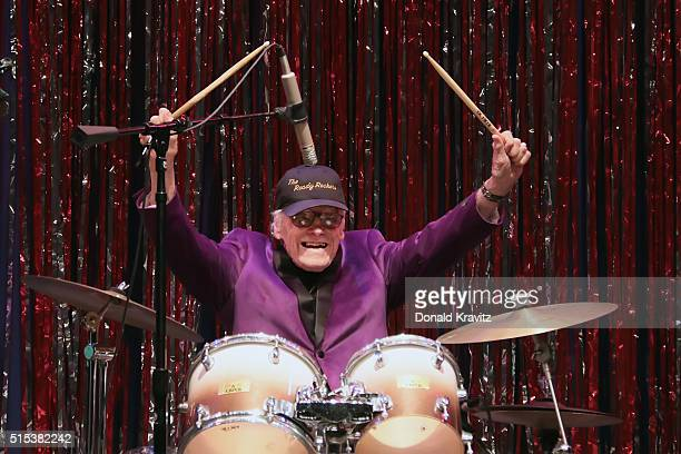 Dick Richards age 92 original drummer from Bill Haley and the Comets Band performs at The Mr Mature America Pageant held at Ocean City Music Pier on...