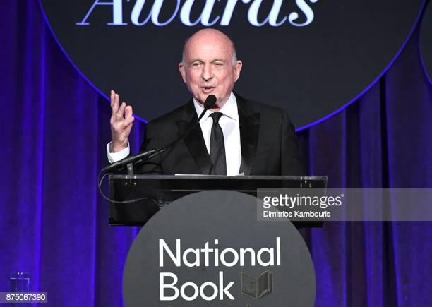Dick Robinson speaks onstage during the 68th National Book Awards at Cipriani Wall Street on November 15 2017 in New York City