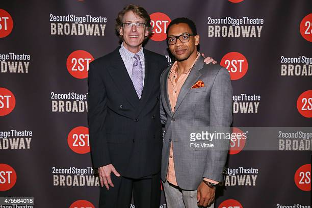 Dick Scanlan and Derrick Baskin attend the Second Stage 36th Anniversary Gala at 583 Park Avenue on June 1 2015 in New York City