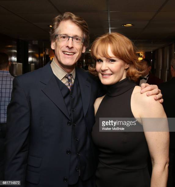 Dick Scanlan and Kate Baldwin attend the The Robert Whitehead Award presented to Mike Isaacson at Sardi's on May 10 2017 in New York City
