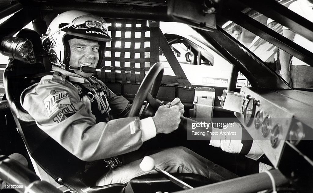 Dick Trickle gets ready to start his engine at the Autoworks 500. Dick Trickle made his debut driving for Miller High Life at the age of 48. He was voted Rookie of the Year by NASCAR.