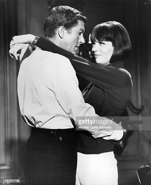 Dick Van Dyke and Barbara Feldon find romance in a scene from the film 'Fitzwilly' 1967