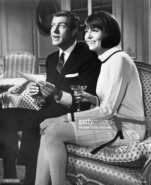 Dick Van Dyke and Barbara Feldon receive good news in a scene from the film 'Fitzwilly' 1967