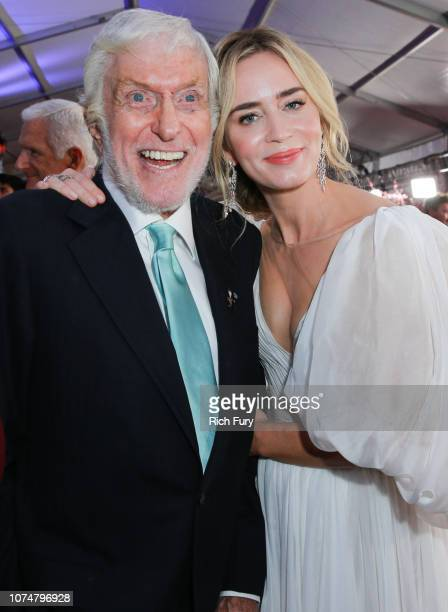 Dick Van Dyke and Emily Blunt attend the Premiere Of Disney's 'Mary Poppins Returns' at El Capitan Theatre on November 29 2018 in Los Angeles...