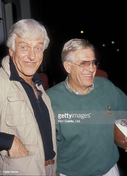 Dick Van Dyke and Jerry Van Dyke during Dick Van Dyke and Jerry Van Dyke at Chasen's Restaurant in Beverly Hills California January 31 1988 at...