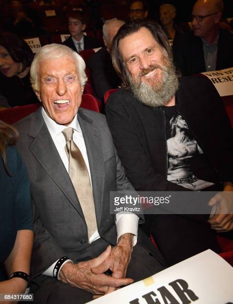 Dick Van Dyke and Jim Carrey at the LA Premiere of If You're Not In The Obit Eat Breakfast from HBO Documentaries on May 17 2017 in Beverly Hills...
