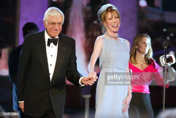 Dick Van Dyke and Mary Tyler Moore during The TV Land Awards Celebration of Classic TV at Hollywood Palladium in Hollywood CA United States