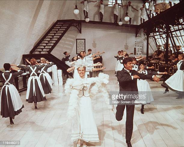 Dick Van Dyke and Sally Ann Howes dancing in a publicity portrait issued for the film Chitty Chitty Bang Bang' 1968 The 1968 musical directed by Ken...