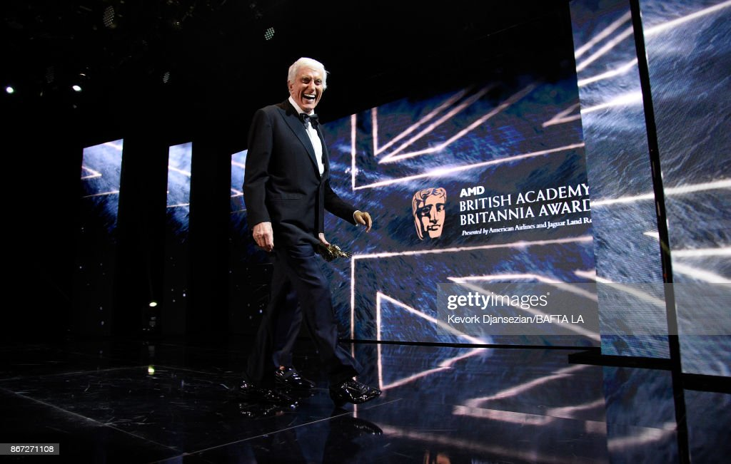 Dick Van Dyke at the 2017 AMD British Academy Britannia Awards Presented by American Airlines And Jaguar Land Rover at The Beverly Hilton Hotel on October 27, 2017 in Beverly Hills, California.