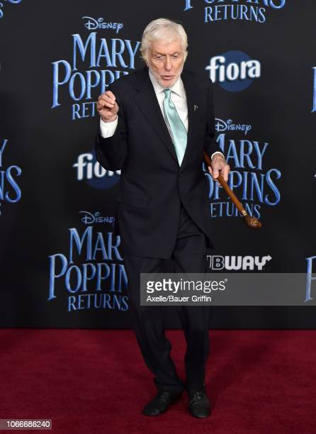Dick Van Dyke attends the premiere of Disney's 'Mary Poppins Returns' at El Capitan Theatre on November 29 2018 in Los Angeles California