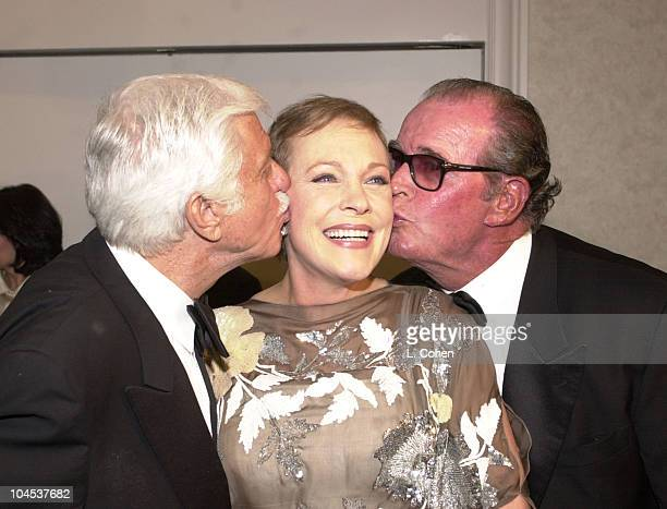 Dick Van Dyke Julie Andrews James Garner during 10th Annual Ella Award Presented to Dame Julie Andrews at Beverly Hilton Hotel in Beverly Hills...