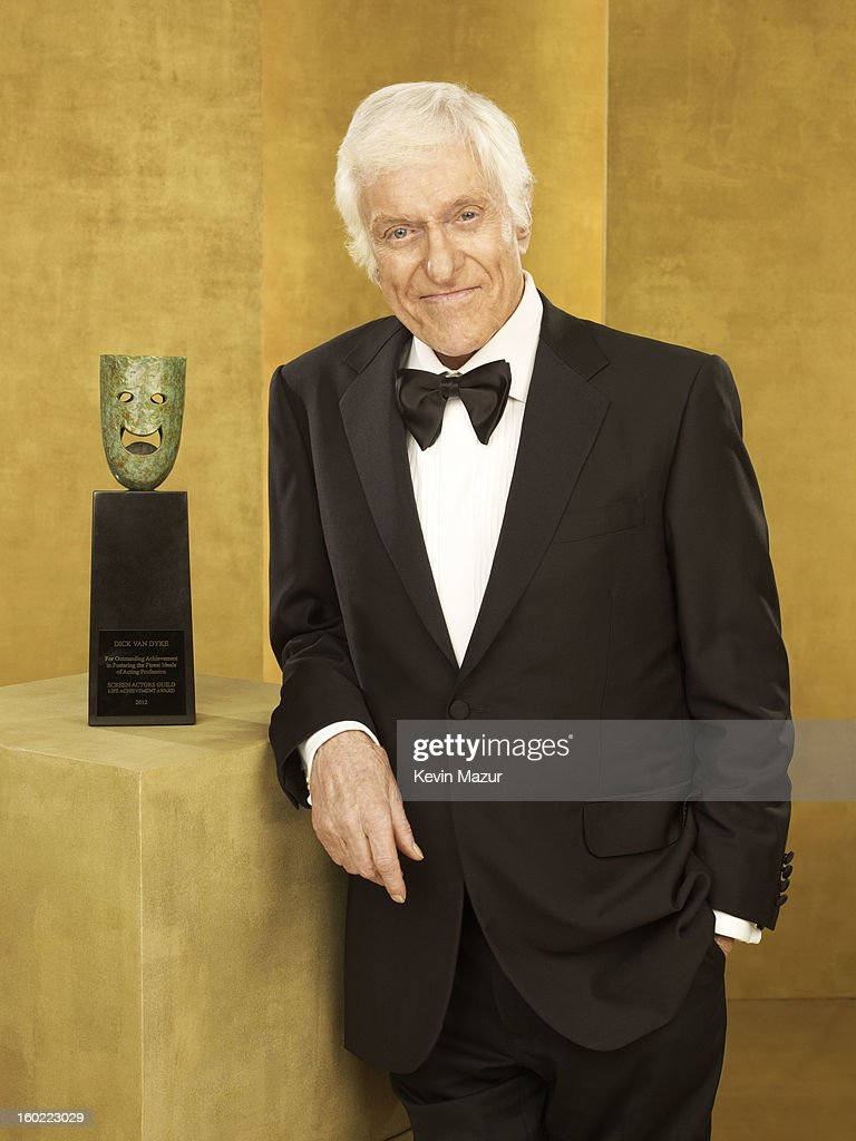 Dick Van Dyke poses during the 19th Annual Screen Actors Guild Awards at The Shrine Auditorium on January 27, 2013 in Los Angeles, California. (Photo by Kevin Mazur/WireImage) 23116_027_0213_R.jpg