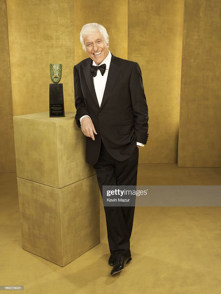Dick Van Dyke poses during the 19th Annual Screen Actors Guild Awards at The Shrine Auditorium on January 27, 2013 in Los Angeles, California. (Photo by Kevin Mazur/WireImage) 23116_027_0215_R.jpg