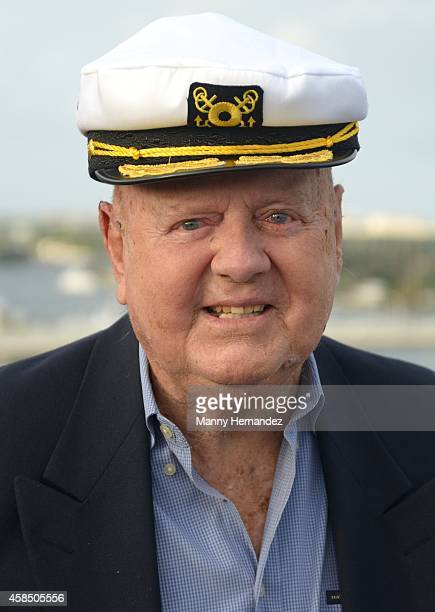 Dick Van Patten attends Love Boat Cast Christening Of Regal Princess Cruise Ship at Port Everglades on November 5 2014 in Fort Lauderdale Florida