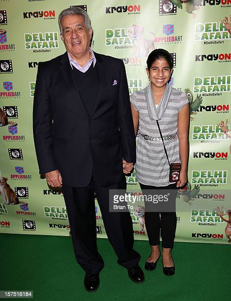 Dick Vega and guest attend 'Delhi Safari' Los Angeles premiere at Pacific Theatre at The Grove on December 3 2012 in Los Angeles California