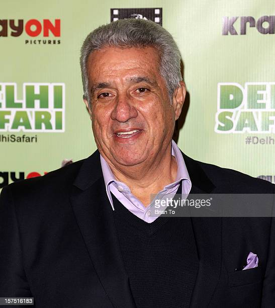 Dick Vega attends 'Delhi Safari' Los Angeles premiere at Pacific Theatre at The Grove on December 3 2012 in Los Angeles California