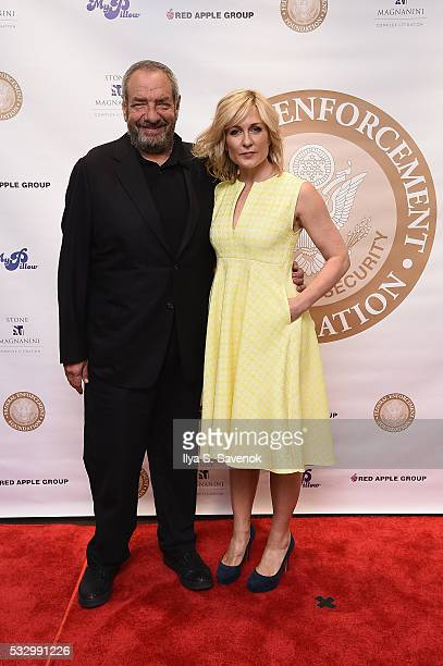 Dick Wolf and actress Amy Carlson attend the Federal Enforcement Homeland Security Foundation 2016 Ridge Awards at Sheraton Times Square on May 19...