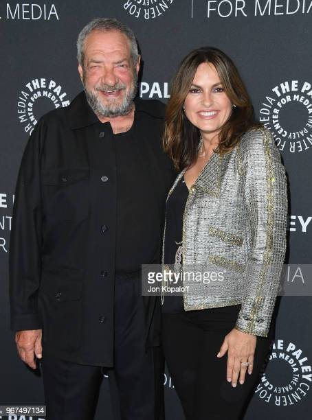 Dick Wolf and Mariska Hargitay attend the Paley Center for Media Presents Creating Great Characters Dick Wolf And Mariska Hargitay at The Paley...