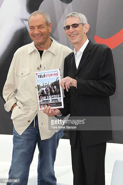 Dick Wolf and Richard Belzer attend 'Law Order Special Victims Units' photocall during the 52nd Monte Carlo TV Festival on June 12 2012 in MonteCarlo...